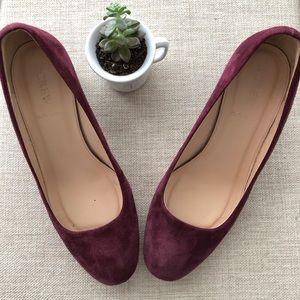 J. Crew heels burgundy size 7